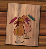 Cocktail menu Stock Image