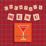 Cocktail menu Stock Photos