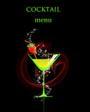 Cocktail menu card. Stock Photos