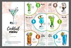 Cocktail menu design Stock Photo