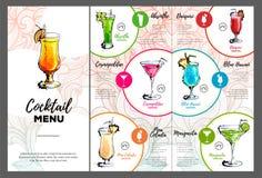 Cocktail menu design Royalty Free Stock Photo