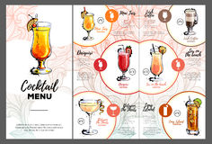 Cocktail menu design Royalty Free Stock Image