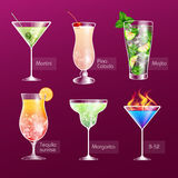 Cocktail menu Royalty Free Stock Images