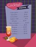 Cocktail menu template Stock Photo