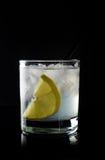 Cocktail met citroen en ijs stock afbeelding