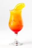 Cocktail met citroen en kers Stock Foto's