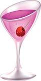 Cocktail met een kers Stock Afbeelding