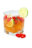 Cocktail met kalk en peper Royalty-vrije Stock Foto