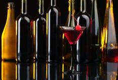 Cocktail met kers Royalty-vrije Stock Foto
