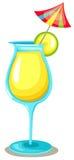 Cocktail met kleine paraplu vector illustratie