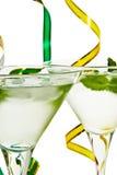 Cocktail met muntblad Royalty-vrije Stock Afbeeldingen