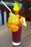 Cocktail met sinaasappel royalty-vrije stock foto's