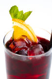 Cocktail met sinaasappel stock fotografie