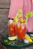 Cocktail met tomatesap Stock Foto's