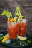 Cocktail met tomatesap Royalty-vrije Stock Afbeeldingen