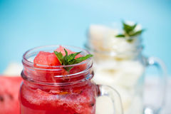 Cocktail met watermeloen Stock Afbeeldingen