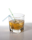 Cocktail met whisky stock afbeelding