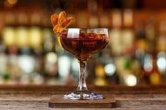 Cocktail met whisky en sherry royalty-vrije stock afbeelding
