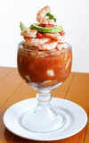 Cocktail mexicano do seafod do estilo foto de stock