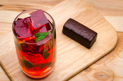 Cocktail with mint and a chocolate Royalty Free Stock Images