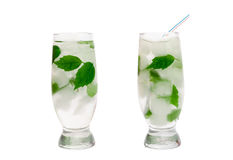 Cocktail with mint and ice Royalty Free Stock Photography