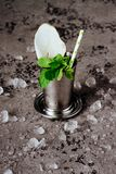 Cocktail Mint julep with ice stock photo