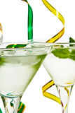 Cocktail with mint leaf Royalty Free Stock Images
