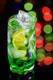 Cocktail with mint and lemon Royalty Free Stock Photo