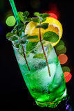 Cocktail with mint and lemon Royalty Free Stock Photos