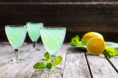 Cocktail mint and lemon Stock Image