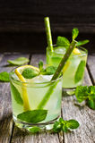Cocktail mint and lemon Royalty Free Stock Image