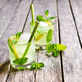 Cocktail mint and lemon Stock Photography