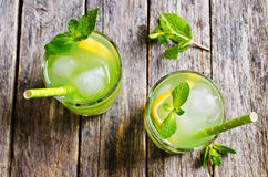 Cocktail mint and lemon Royalty Free Stock Photos