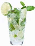 Cocktail with mint and lime. Royalty Free Stock Photo