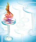 Cocktail mit abstrakter Welle Lizenzfreie Stockfotografie