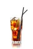 Cocktail mit Eis auf Weiß Stockfotografie