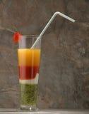 Cocktail mit Erdbeere Stockbild