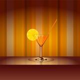 Cocktail mit Hintergrund Lizenzfreie Stockfotos