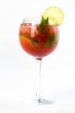 Cocktail mit Kalk Stockbilder