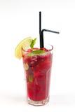 Cocktail mit Kalk Stockfotos