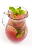 Cocktail mit Kalk Lizenzfreies Stockbild