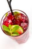 Cocktail mit Kalk Lizenzfreies Stockfoto