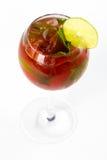 Cocktail mit Kalk Stockfotografie