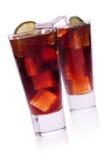 Cocktail mit Kalk und Kolabaum Stockfotografie