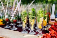 Cocktail mit Orange und Minze Stockbild