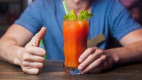 Cocktail mit Petersilie und Tomate Lizenzfreie Stockfotografie