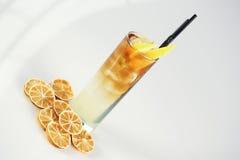 Cocktail mit Zitrone Lizenzfreies Stockbild