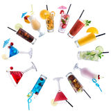Cocktail Mix, paved circle Royalty Free Stock Images