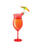 Cocktail, mocktail, drink glass. With a white background Stock Images
