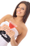 Cocktail model Stock Image